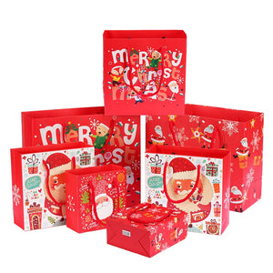 1pc Merry Christmas Kraft Paper Gift Bags Santa Claus Xmas Tree Packing Bags Happy New Year Christmas Candy Bags