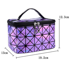 Travel Makeup Bag | Diamond Square Cosmetic Case- [variant_title]