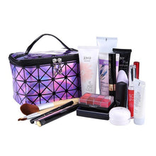 Load image into Gallery viewer, Travel Makeup Bag | Diamond Square Cosmetic Case- [variant_title]