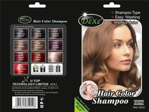 Dexe Hair Color Shampoo | Anti Gray Hair Shampoo- Chestnut Brown