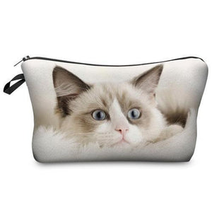 Travel Makeup Bag | Cosmetic Case | Deep Kitty- Default Title