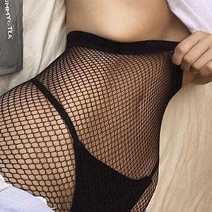 Black Fishnet Tights | High Waisted Fishnet Stockings- [variant_title]