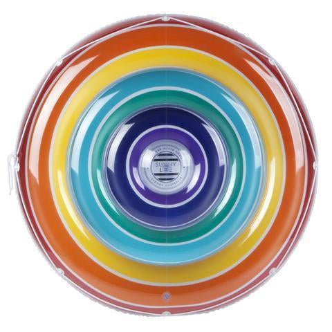 Inflatable Pool Float | Luxe Twin Round Float Rainbow- [variant_title]