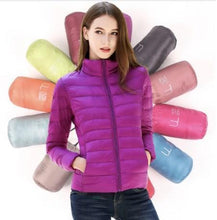 Load image into Gallery viewer, DuraPeak™ Ultra Light Packable Down Jacket- Purple / Small