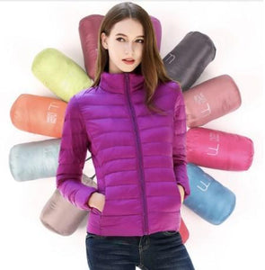 DuraPeak™ Ultra Light Packable Down Jacket- Purple / Small