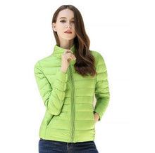Load image into Gallery viewer, DuraPeak™ Ultra Light Packable Down Jacket- Lime Green / Small