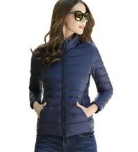 Load image into Gallery viewer, DuraPeak™ Ultra Light Packable Down Jacket- Navy Blue / Small