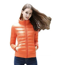 Load image into Gallery viewer, DuraPeak™ Ultra Light Packable Down Jacket- Orange / Small