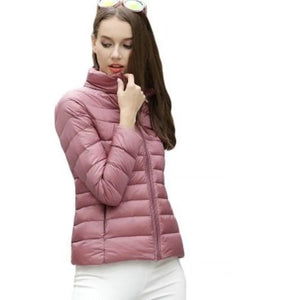 DuraPeak™ Ultra Light Packable Down Jacket- Pastel Pink / Small