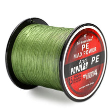 Load image into Gallery viewer, Multifilament PE-Braided Fishing Line | 330 Yard- Green / 8 lb