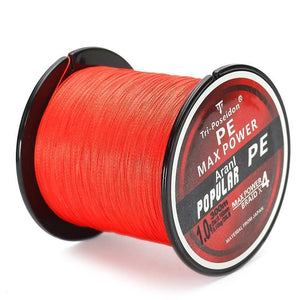 Multifilament PE-Braided Fishing Line | 330 Yard- Red / 8 lb