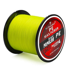 Load image into Gallery viewer, Multifilament PE-Braided Fishing Line | 330 Yard- Yellow / 8 lb