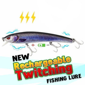 Fishing Lure | USB Rechargeable | Flashing LED Light Twitching Fishing Lure- [variant_title]