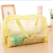 Load image into Gallery viewer, Travel Makeup Bag | Transparent Cosmetic Case- Yellow