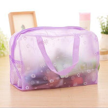 Load image into Gallery viewer, Travel Makeup Bag | Transparent Cosmetic Case- Purple
