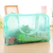 Load image into Gallery viewer, Travel Makeup Bag | Transparent Cosmetic Case- Green