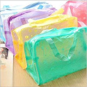 Travel Makeup Bag | Transparent Cosmetic Case- [variant_title]