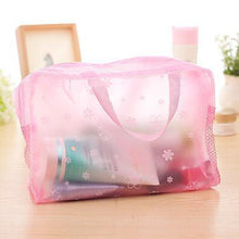 Load image into Gallery viewer, Travel Makeup Bag | Transparent Cosmetic Case- Pink