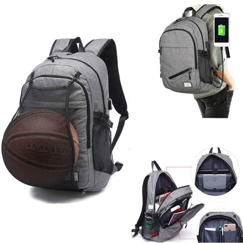 Basketball Backpack | USB Charging Sports Backpack- Pick Your Color