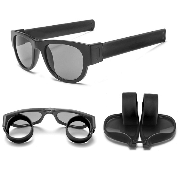 Slap Shades™ | Polarized Slappable Bracelet Sunglasses | BUY 1 GET 1 FREE- Black