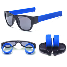 Load image into Gallery viewer, Slap Shades™ | Polarized Slappable Bracelet Sunglasses | BUY 1 GET 1 FREE- Blue