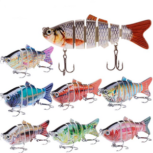 Fishing Lure | Colorful Lifelike 6 Segments Jointed Swimbait- Pick Your Color