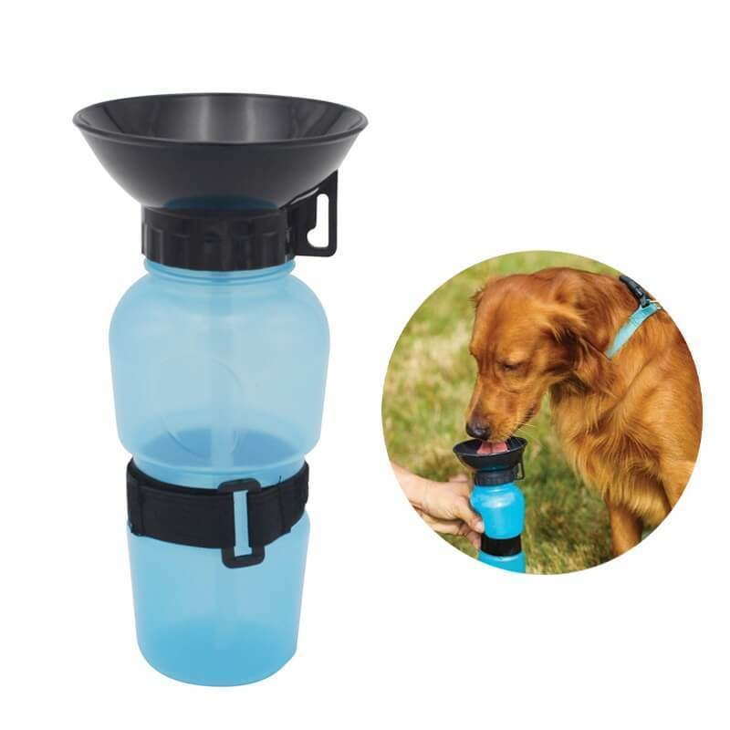 Dog Water Bottle | Squeeze Water Bottle- Blue