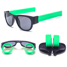 Load image into Gallery viewer, Slap Shades™ | Polarized Slappable Bracelet Sunglasses | BUY 1 GET 1 FREE- Green