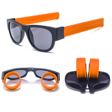 Load image into Gallery viewer, Slap Shades™ | Polarized Slappable Bracelet Sunglasses | BUY 1 GET 1 FREE- Orange
