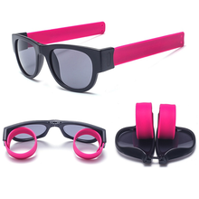 Load image into Gallery viewer, Slap Shades™ | Polarized Slappable Bracelet Sunglasses | BUY 1 GET 1 FREE- Rose