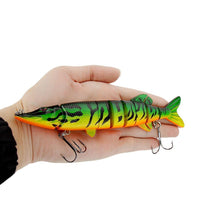Load image into Gallery viewer, Lifelike Pike Muskie Fishing Lure 8-segement Swimbait- [variant_title]