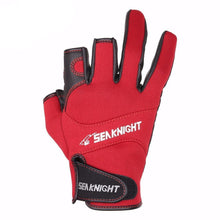 Load image into Gallery viewer, Sport Leather Fishing Glove 3 Half-Finger Breathable Anti-Slip- Pick Your Color / L