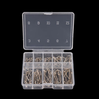 100 Pcs 1 Box Steel Carp Fishing Jig Hooks With Hole Fishhooks- [variant_title]