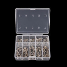 Load image into Gallery viewer, 100 Pcs 1 Box Steel Carp Fishing Jig Hooks With Hole Fishhooks- [variant_title]