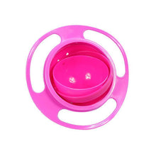 Load image into Gallery viewer, Gyro Bowl | 360 Rotating Bowl | Children No Spill Bowl- Rose Red
