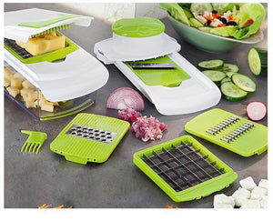 Kitchen accessory Mandoline Slicer knife Food Choper Vegetable Cutter Peeler, Slicer,Grater kitchen tool with 7 Dicing Blades- [variant_title]