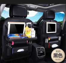 Load image into Gallery viewer, Foldable Car Backseat Organizer- Black