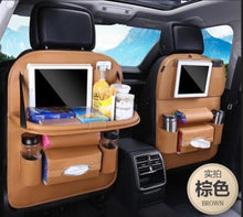 Load image into Gallery viewer, Foldable Car Backseat Organizer- Brown
