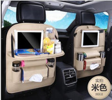 Load image into Gallery viewer, Foldable Car Backseat Organizer- Beige
