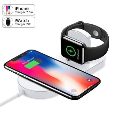 2 in 1 Fast Charging Wireless Charger 10W for Apple Watch and iPhone 8 X XS Max XR Samsung S9 S8- [variant_title]