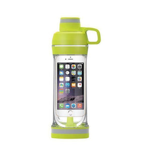 Phone Storage Water Bottle | Workout Phone Case Bottle- Iphone 7s / Green