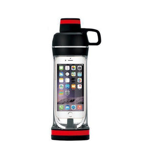 Phone Storage Water Bottle | Workout Phone Case Bottle- Iphone 7s / Black