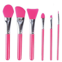 Load image into Gallery viewer, 6-Piece Silicone Makeup Brush Set- Pink