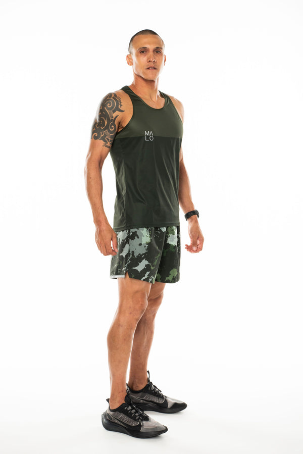 MALO hollett performance tank - moss