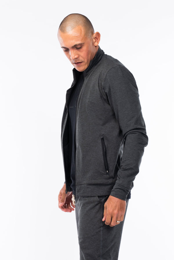 men's bomber jacket - slate heather
