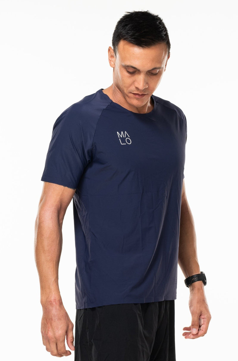 MALO edge performance tee - navy