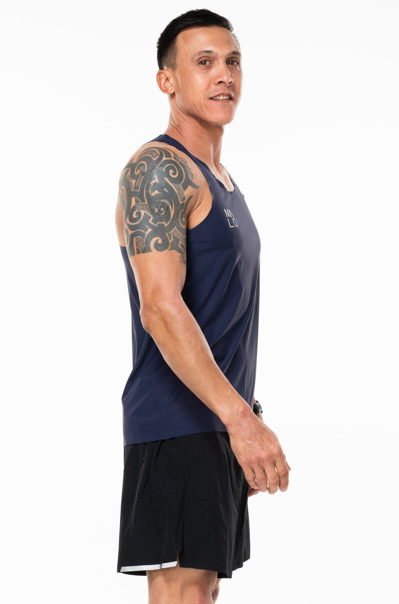 MALO edge performance tank - navy