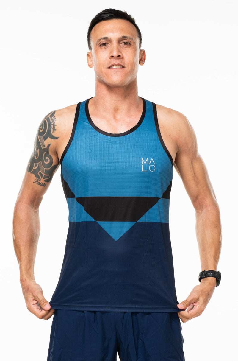 MALO hollett performance tank - cobalt/navy
