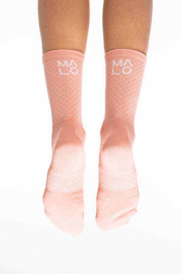 MALO signature sock - peach