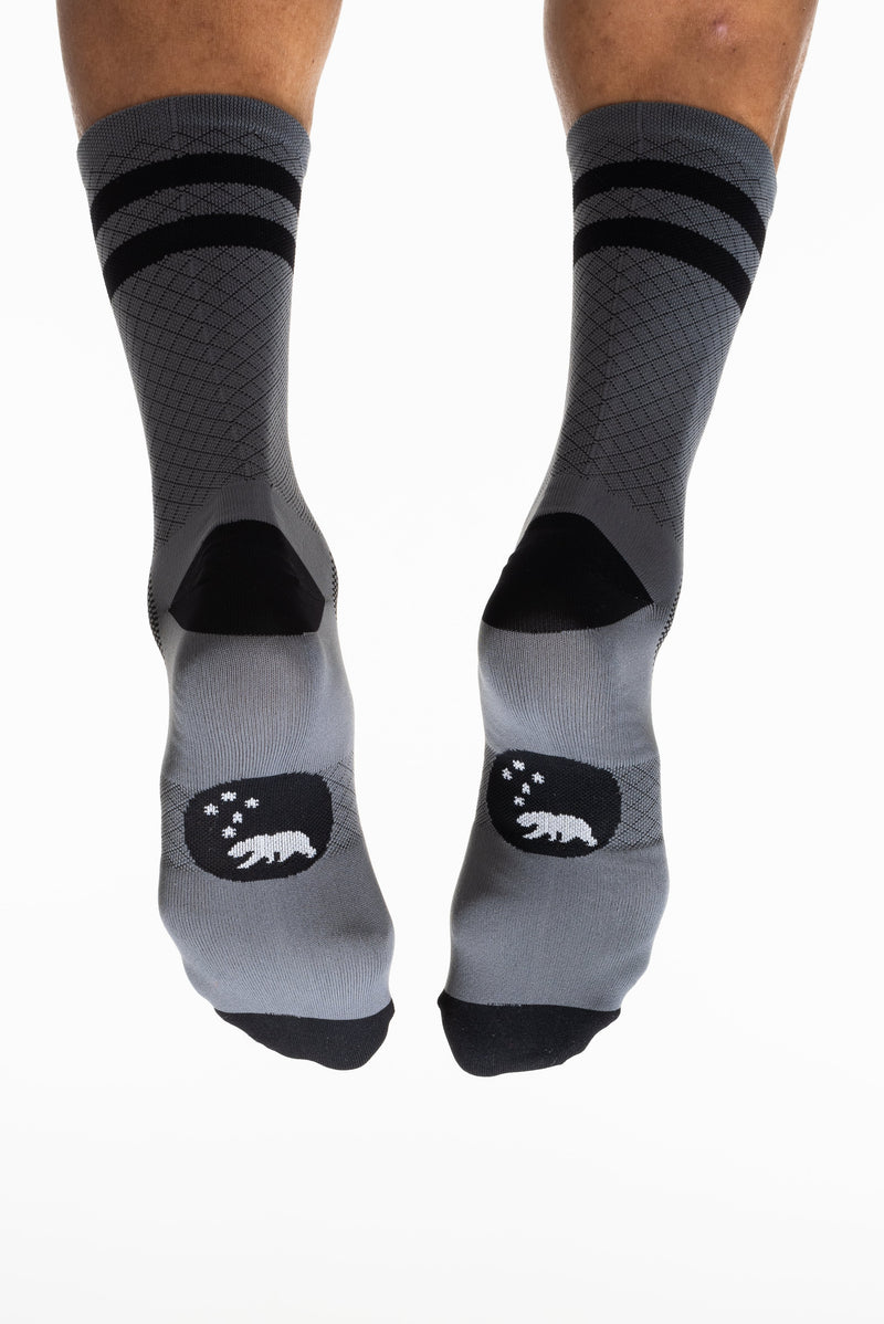MALO two-stripe sock - grey